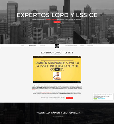 Landing Page Low Cost